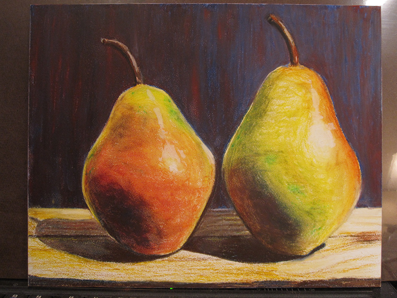 Pears in Oil Pastels - sketch 6
