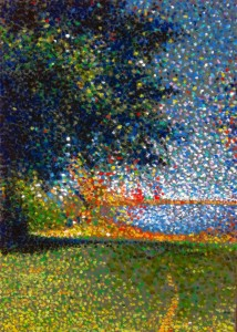 Oil Pastels Pointillist Art